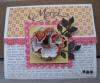 Carte avec une fleur en papier et en tissu - Blog des Scrapines