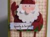 Carte Père Noël pailleté