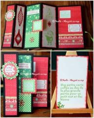 Carte accordéon Noël et voeux - Différentes vue