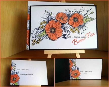Carte Bonne fête - Blazzing poppies