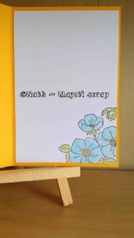 Carte - Fleurs et Neocolor - Intérieur