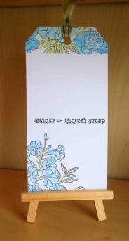 Tag - Fleurs et Neocolor.- Verso