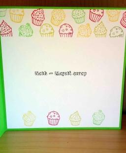 Carte cupcake -Intérieur 2