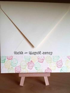Carte cupcake - Enveloppe 2