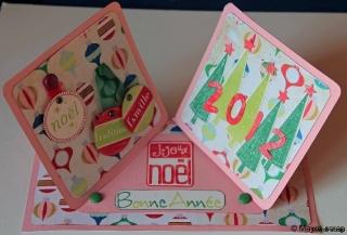 Carte de Noël - Tons pastels