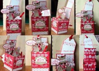 Carte-boîte 2 - Noël et anniversaire