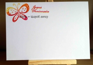 Carte anniversaire et son enveloppe