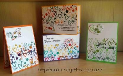 Ensemble de cartes Doodle art