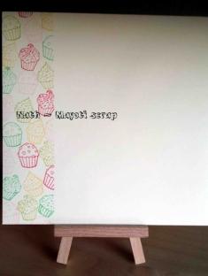 Carte cupcake - Enveloppe 1