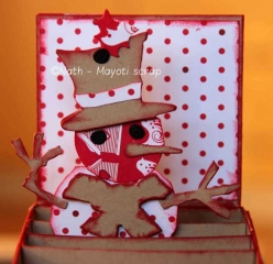Carte-boîte 2 - Bonhomme de neige.