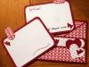 Carte croisée - Saint-Valentin - Rouge et cœurs