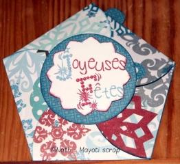 Cartes Joyeuses fêtes - Challenge cartoscrap