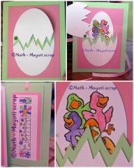 Carte - Oeuf de Pâques - Différentes vues