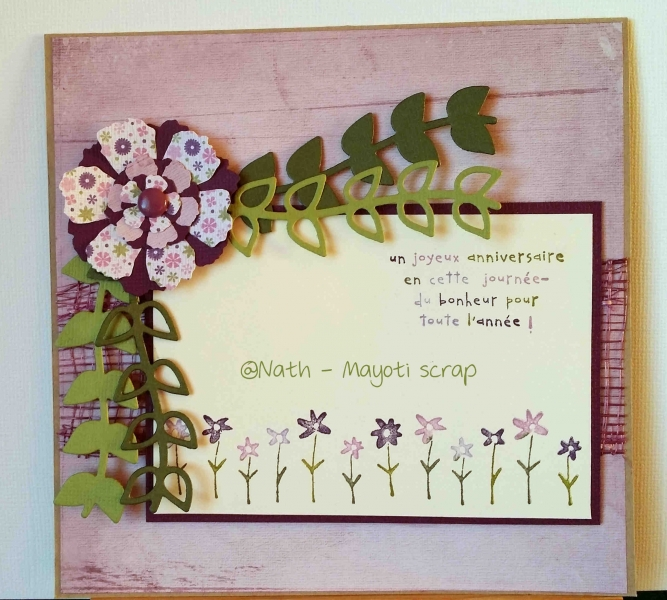 Carte – Anniversaire – 70 ans – Mayoti scrap