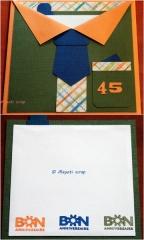 Carte chemise - 45 ans