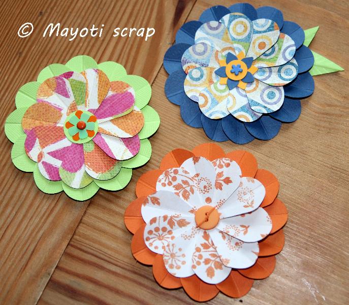 Tutoriel une fleur avec des coeurs mayoti scrap - Images avec des coeurs ...