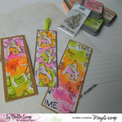 Marque-page - Avec encreurs et tampons